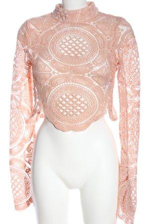 Boohoo Kanten blouse roze elegant