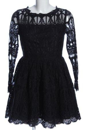 Boohoo Spitzenkleid schwarz Elegant