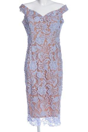 Boohoo Spitzenkleid braun-blau Blumenmuster Elegant