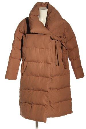 Boohoo Gewatteerde jas bruin quilten patroon casual uitstraling