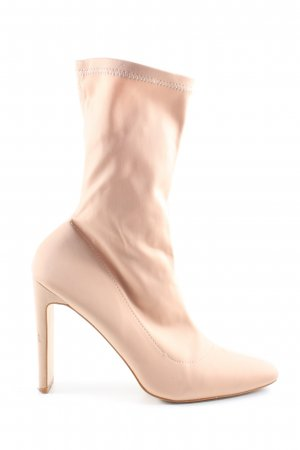 Boohoo Stretch Boots cream elegant