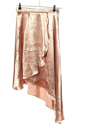 Boohoo Broomstick Skirt pink-gold-colored extravagant style