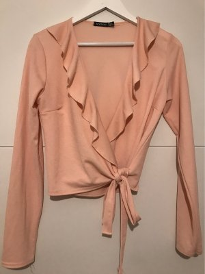 Boohoo Kopertowa bluzka różowy-różany