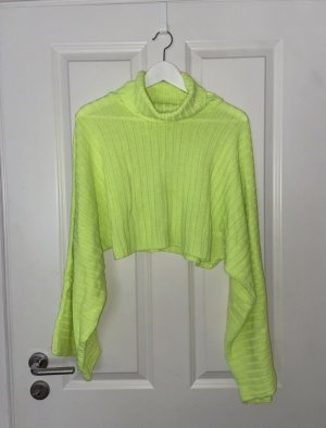 Boohoo Cropped Jumper neon green