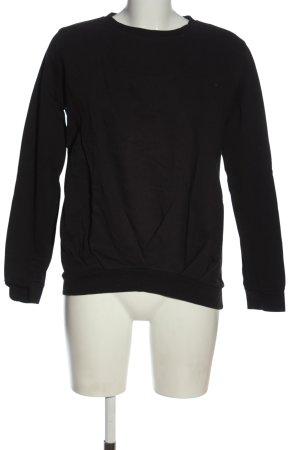 Boohoo Sweatshirt schwarz Casual-Look
