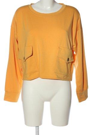 Boohoo Sweatshirt orange clair style décontracté