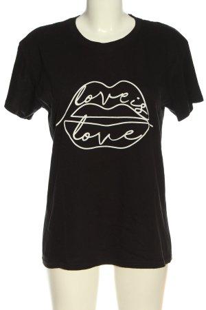 Boohoo T-shirt nero Stampa a tema stile casual