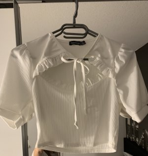 Boohoo Cut Out Top white