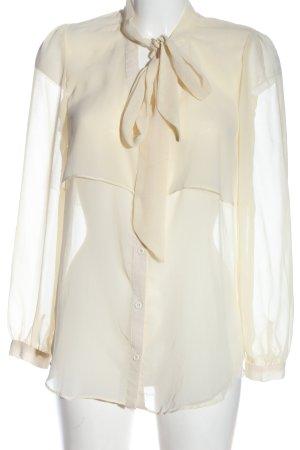 Boohoo Blusa trasparente crema stile casual