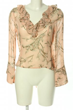 Boohoo Transparenz-Bluse Allover-Druck Casual-Look