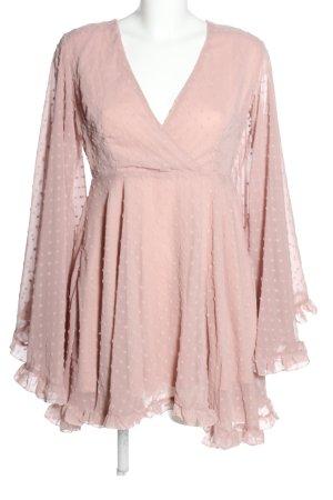 Boohoo Tunikakleid pink Allover-Druck Casual-Look