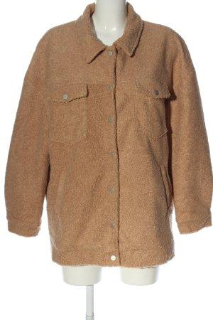 Boohoo Between-Seasons Jacket brown casual look