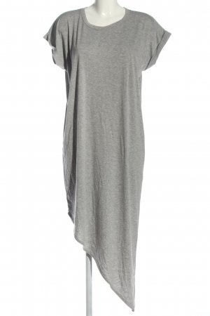 Boohoo High Low Dress light grey flecked casual look