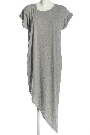 Boohoo Robe bas asymétrique gris clair moucheté style décontracté