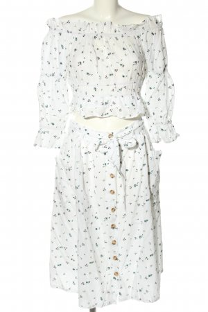 Boohoo Woven Twin Set white-khaki allover print elegant