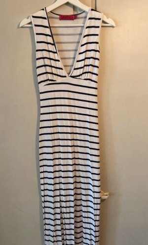 Boohoo Weißes Maxi Kleid mit Schwarzen Streifen