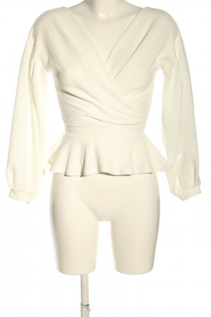 Boohoo Wraparound Blouse natural white elegant