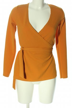 Boohoo Wickel-Bluse hellorange Casual-Look