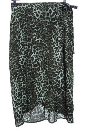 Boohoo Wikkelrok khaki volledige print extravagante stijl