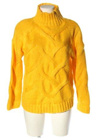 Boohoo Warkoczowy sweter bladożółty Warkoczowy wzór W stylu casual