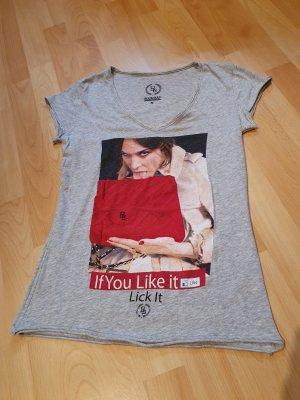 Boom bap Shirt met print lichtgrijs