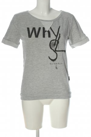 Boom bap T-shirt lichtgrijs-zwart gestippeld casual uitstraling