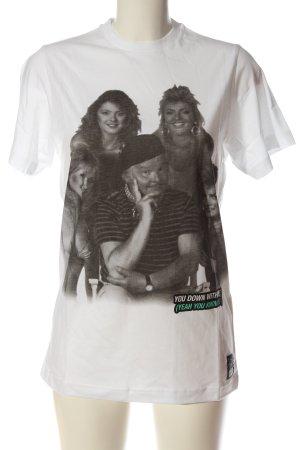 Boom bap Shirt met print wit-zwart prints met een thema casual uitstraling