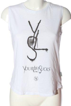 Boom bap Shirt met print wit prints met een thema casual uitstraling