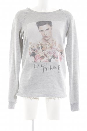Boom bap Crewneck Sweater flower pattern casual look