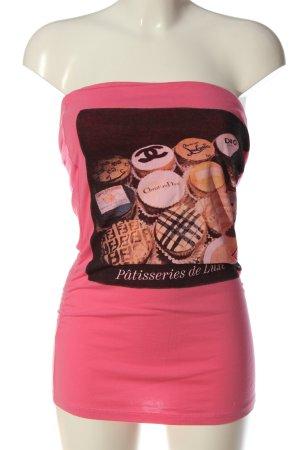 Boom bap Off the shoulder top roze prints met een thema casual uitstraling
