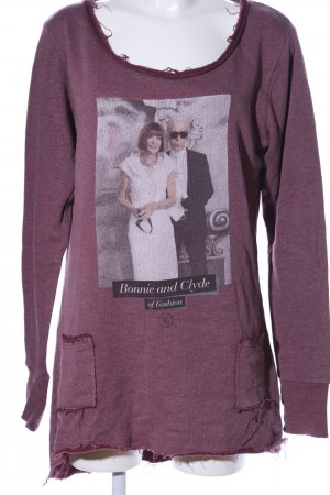 Boom bap Sweat Shirt lilac flecked casual look
