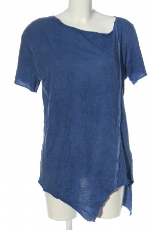 Boom bap T-shirt blauw gestippeld casual uitstraling