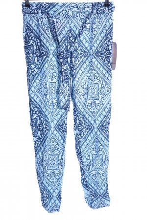 Boom boom Jeans Jersey Pants blue-white abstract pattern casual look