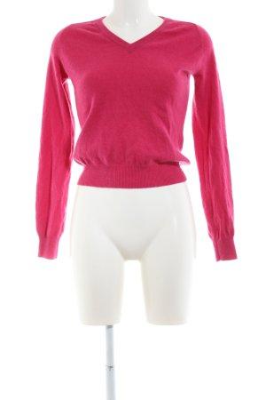 Boomerang V-Ausschnitt-Pullover rot Business-Look