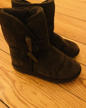 Futrzane buty Wielokolorowy