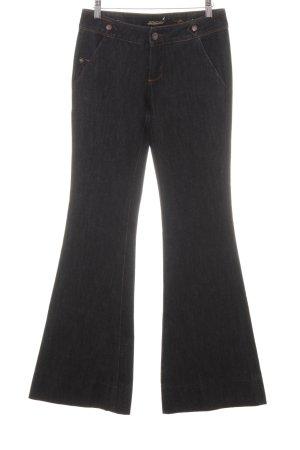 Jeans bootcut bleu foncé Application de logo