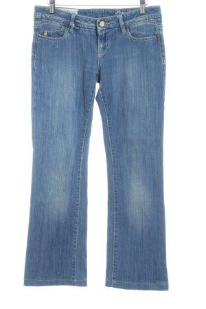 Boot Cut Jeans kornblumenblau Washed-Optik