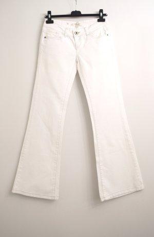 Amisu Jeansy o kroju boot cut biały