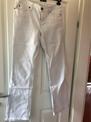 AJC Jeansy o kroju boot cut biały