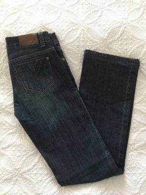 s. Oliver (QS designed) Vaquero de corte bota gris pizarra