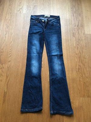 Bootcut Jeans used look Größe 34 von Janina