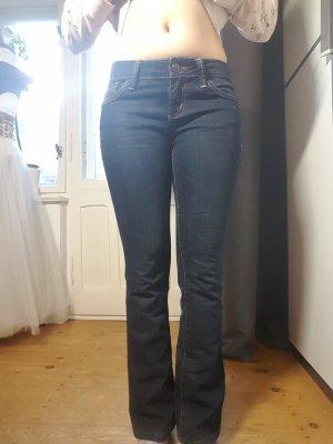 Tom Tailor Boot Cut spijkerbroek donkerblauw Katoen