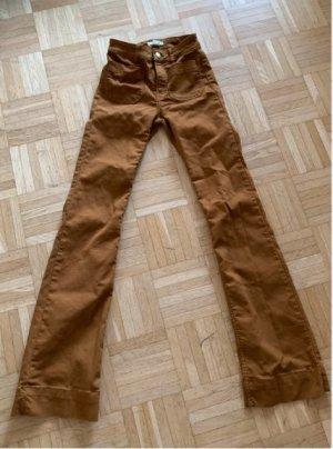 H&M Pantalon pattes d'éléphant cognac-brun