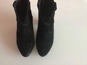 ASH Botines estilo vaquero negro Gamuza