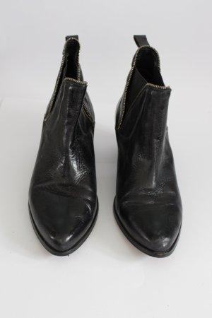 Booties aus Leder