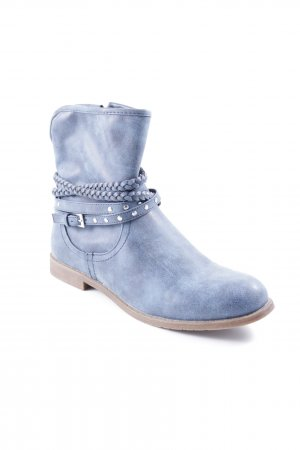 Booties stahlblau meliert Casual-Look