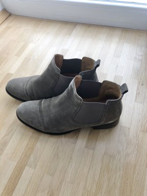 Gabor Ankle Boots green grey-grey brown suede