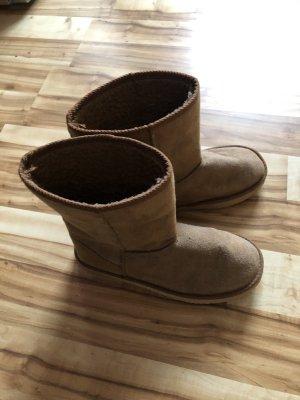 Botines de invierno marrón-marrón claro