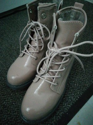 Young Spirit Lace-up Boots dusky pink