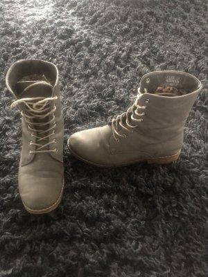 Bottes à lacets gris